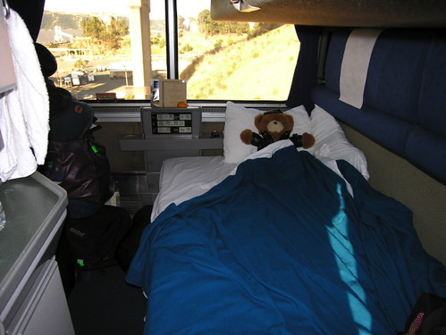 Lower bunk Amtrak deluxe room