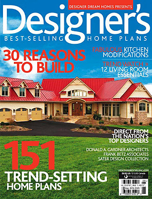 Designer 39 s best selling home plans magazine cover for Free house magazines