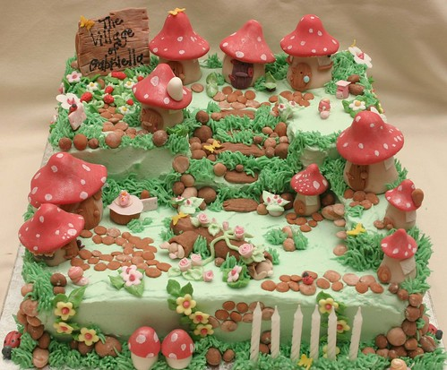 Toadstool Village Cake Flickr Photo Sharing