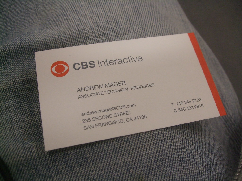 New Cbs Interactive Business Card Andrew Mager Flickr