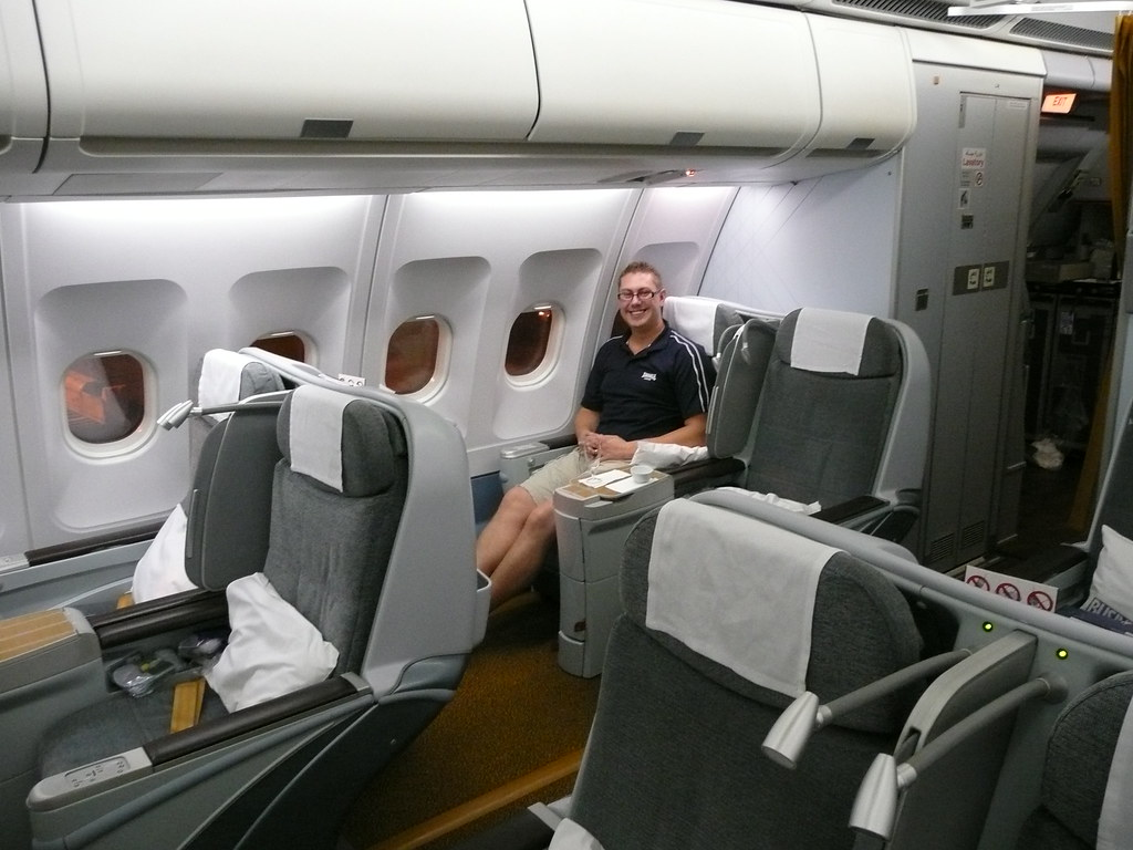Gulf Air Business Class Business Class Cabin On Gulf Air