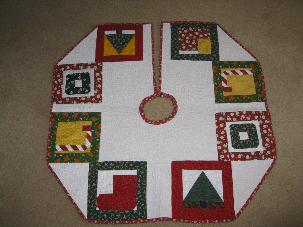 Tree skirt finished christmas with paper