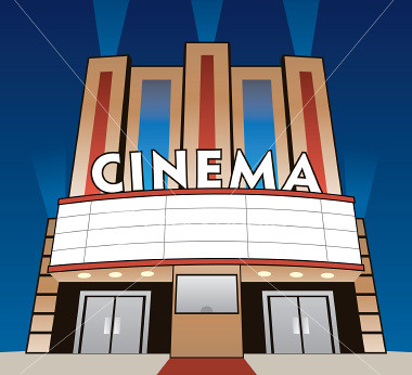 cinema graphic | Modern movie theaters have entertained ... Cinema Building Cartoon