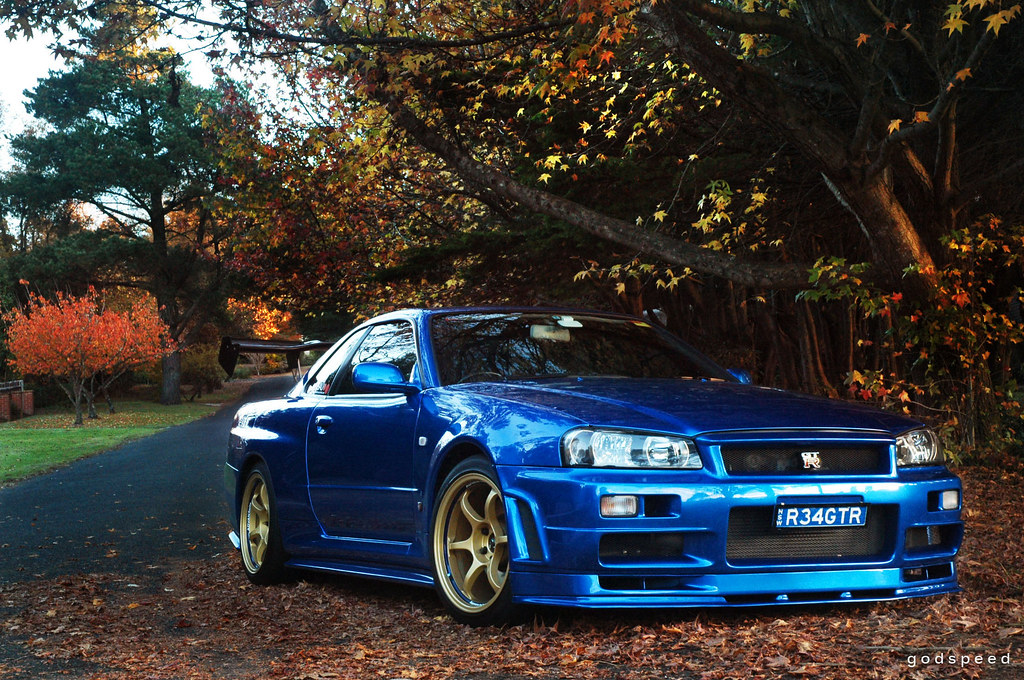 nissan skyline r34 gt r v spec ii at leura autumn in the flickr. Black Bedroom Furniture Sets. Home Design Ideas