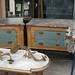 Aqua and Gold Dressers - Paris Flea Market