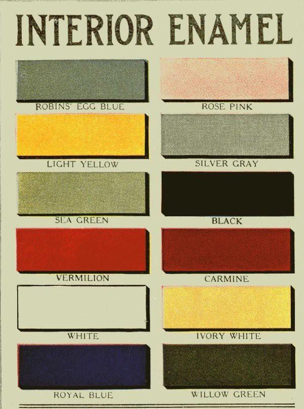 Aladdin Paint 1916 Interior Enamel Colors Interior
