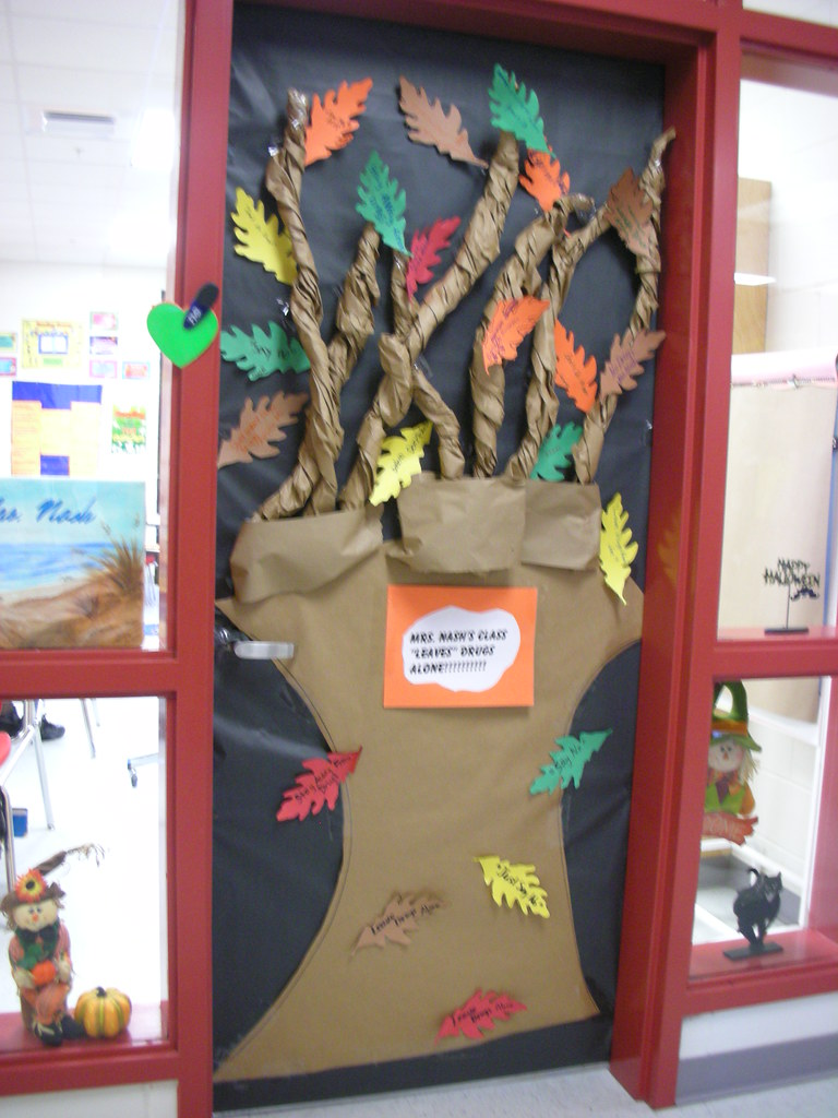 Door decorations for red ribbon week mrs ns class leaves flickr vtopaller Choice Image