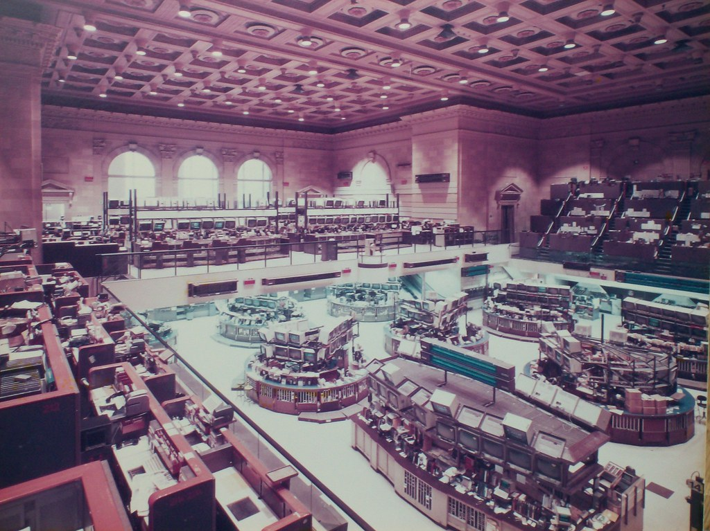 The Old American Stock Exchange Trading Floor Ca 1980 S
