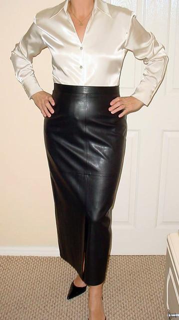 leather hobble skirt sheerglamour flickr