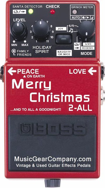 the boss merry christmas 2 all guitar effects pedal flickr. Black Bedroom Furniture Sets. Home Design Ideas