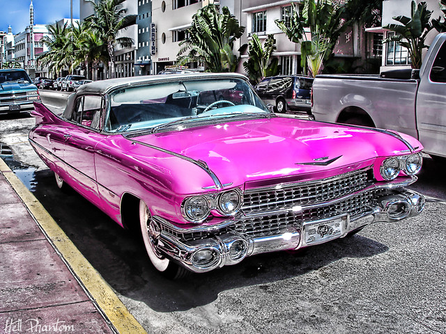 Pink Cadillac Collins Ave Miami Not Hdr David