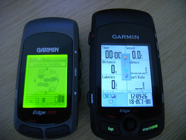 Garmin edge® 305cad gps cycle trainer with speed and cadence.