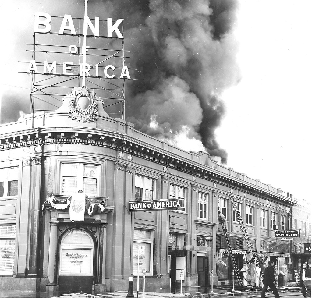 bank of america fire turlock ca a fire occurred in the. Black Bedroom Furniture Sets. Home Design Ideas