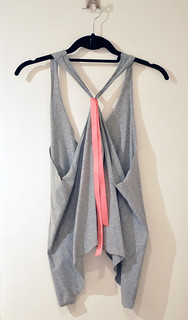 cropped tank diy gray and neon watermelon pink | by ...love Maegan