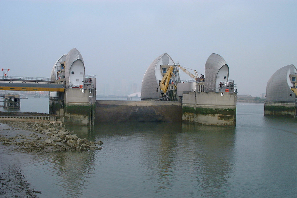 Thames Barrier | Partially closed for testing | kenjonbro