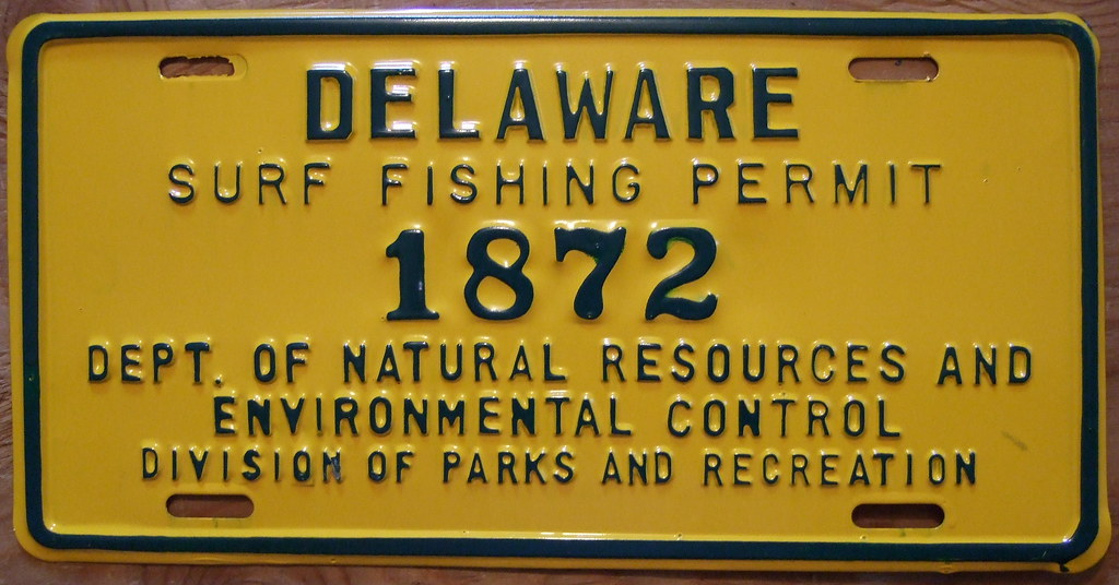 delaware 1975 surf fishing permit unknown exactly when