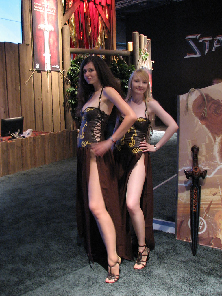 Age of Conan babes on Games Convention 2008 | Sergey ...