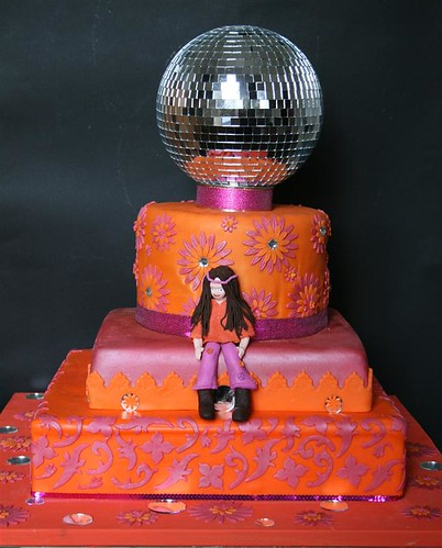 70 S Themed 40th Birthday Cake By Toni