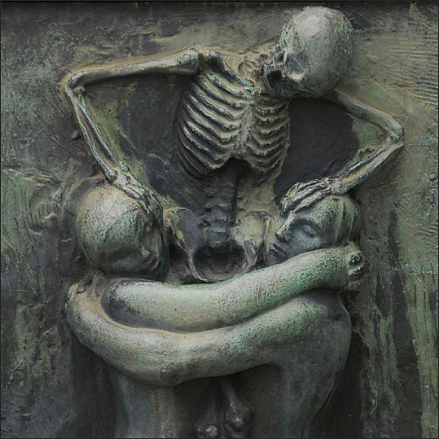 Till Death Do Us Part Skull Wedding Cake