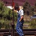 BNSF Conductor at Prineville Jct, OR