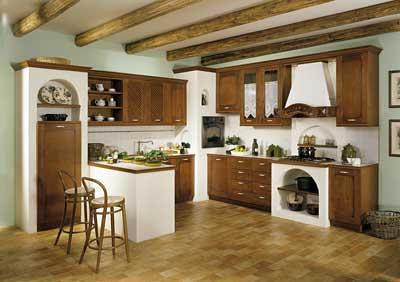 Cucina con forno ad angolo incassato nella muratura flickr - Rivestimenti per cucine classiche ...