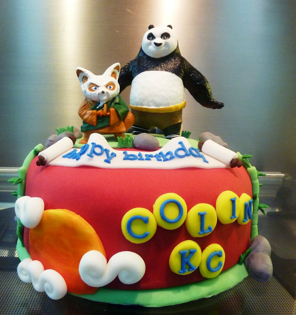 Kung Fu Birthday Cake