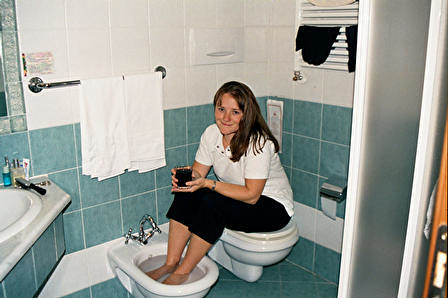 Italy 2002 yes i am drinking wine and soaking my feet i flickr - What is a bidet used for ...