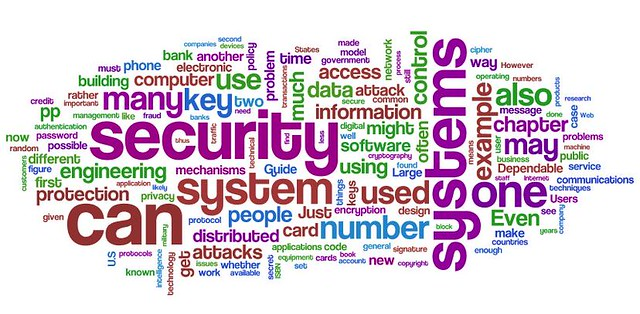 Information Security wordle: Ross Anderson's Security Engi… | Flickr