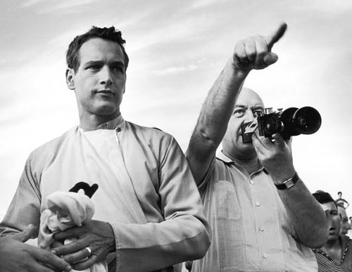 Paul Newman & Otto Preminger on the set of the film Exodus (1960) | by cinema_lasuperlativ2