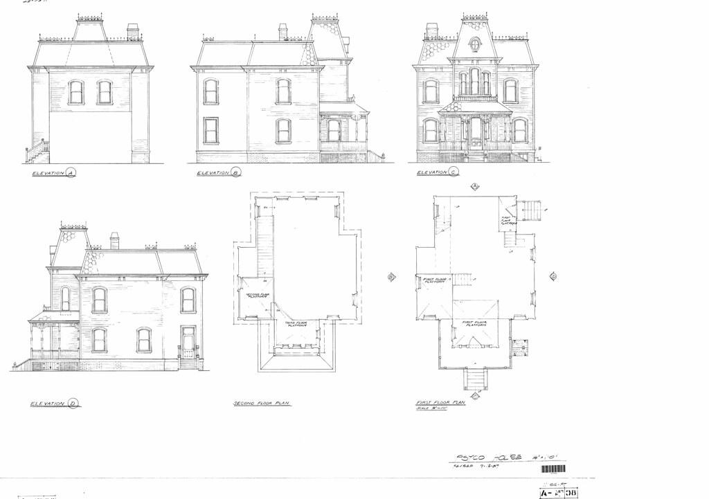 Psycho house floor plans for House plan set