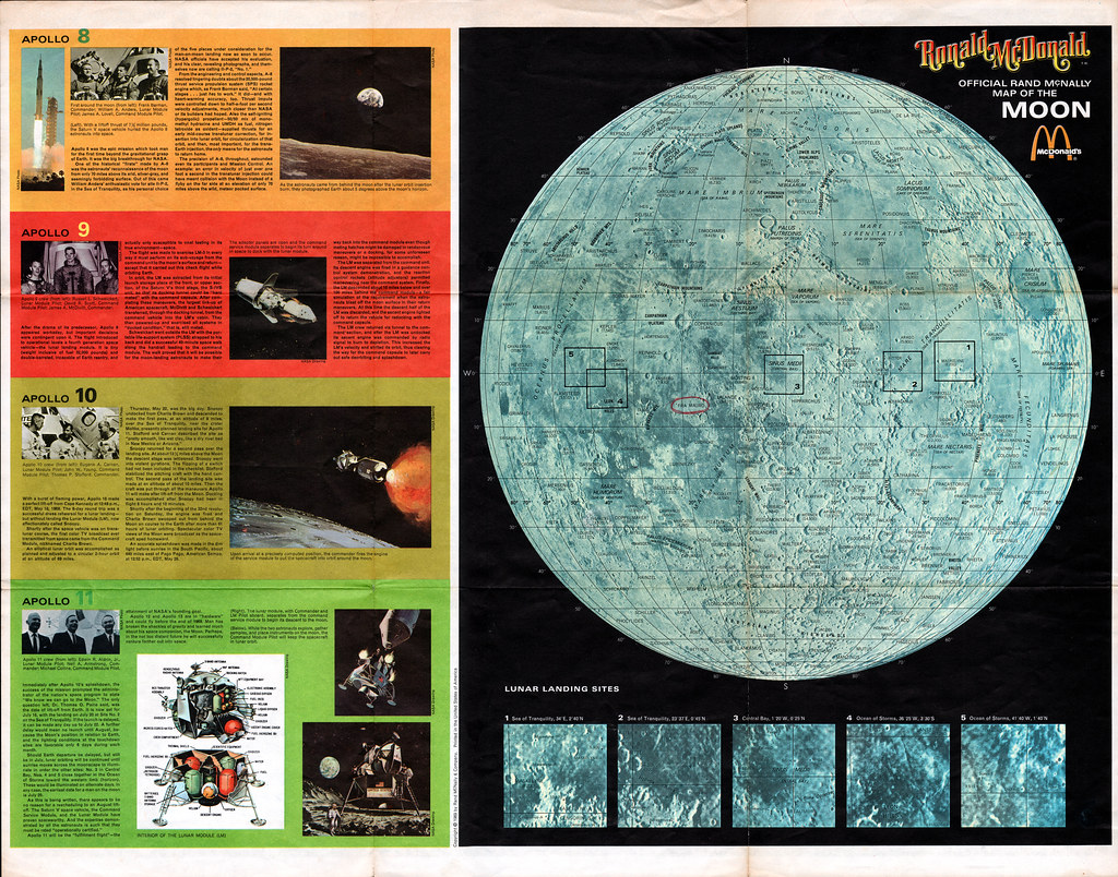 Mcdonalds ronald mcdonald poster map of outer space and for 3d outer space map