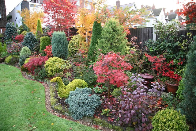 Garden autumn colours side border english garden for all for Gardening 4 all seasons