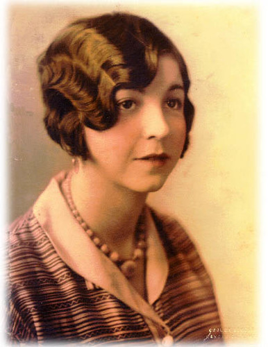 Woman With Finger Wave 1920 S My Grandmother Wearing A