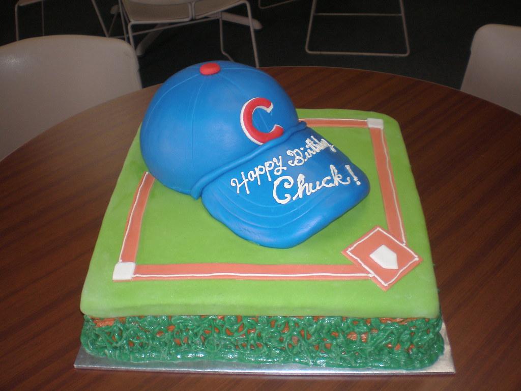 Cubs Baseball Hat Cake