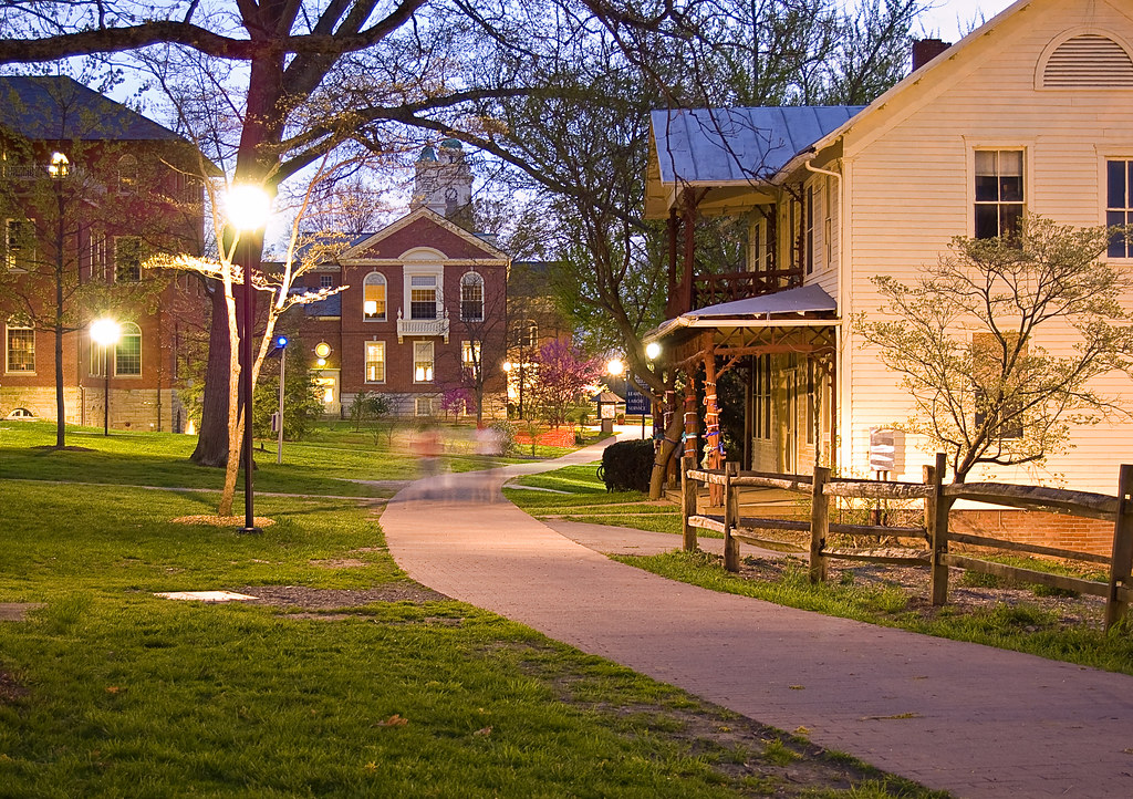 berea college campus this was taken at night with the. Black Bedroom Furniture Sets. Home Design Ideas