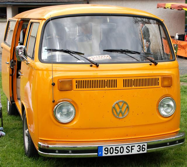 Vw combi t2 orange lowrider ben flickr - Pieces combi vw t2 ...