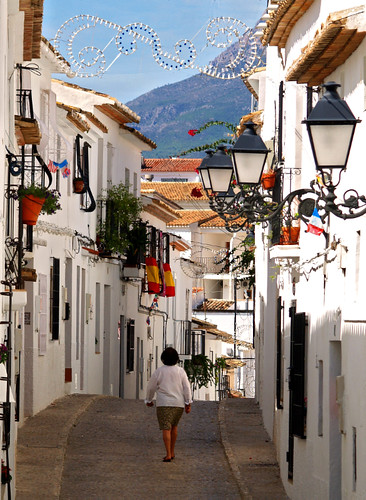 Colouful street scene in Altea | by Anguskirk