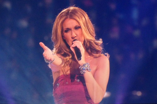 "Celine Dion Concert - Singing ""Taking Chances"" 