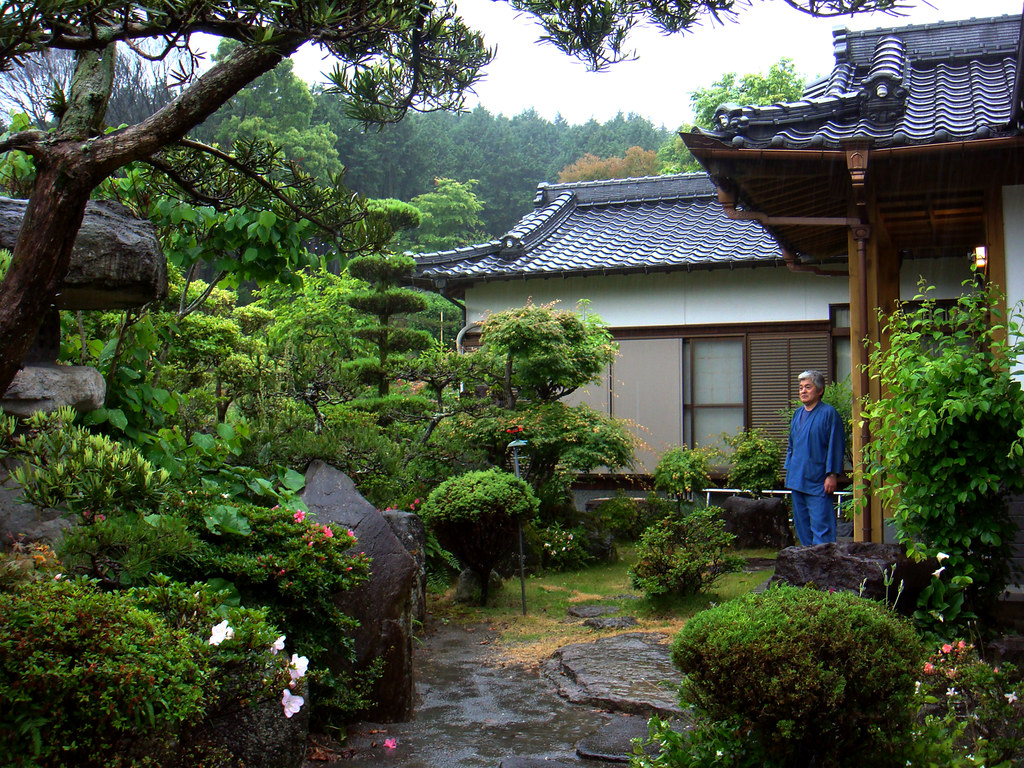 Japanese Garden A Fairly Traditional Japanese House In