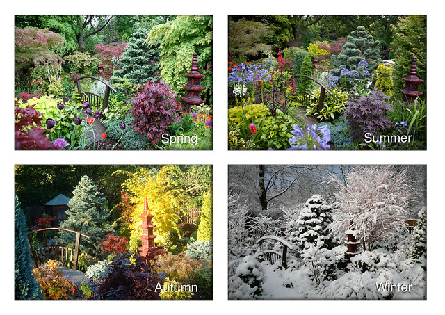 four seasons in the lower garden spring summer autumn wi