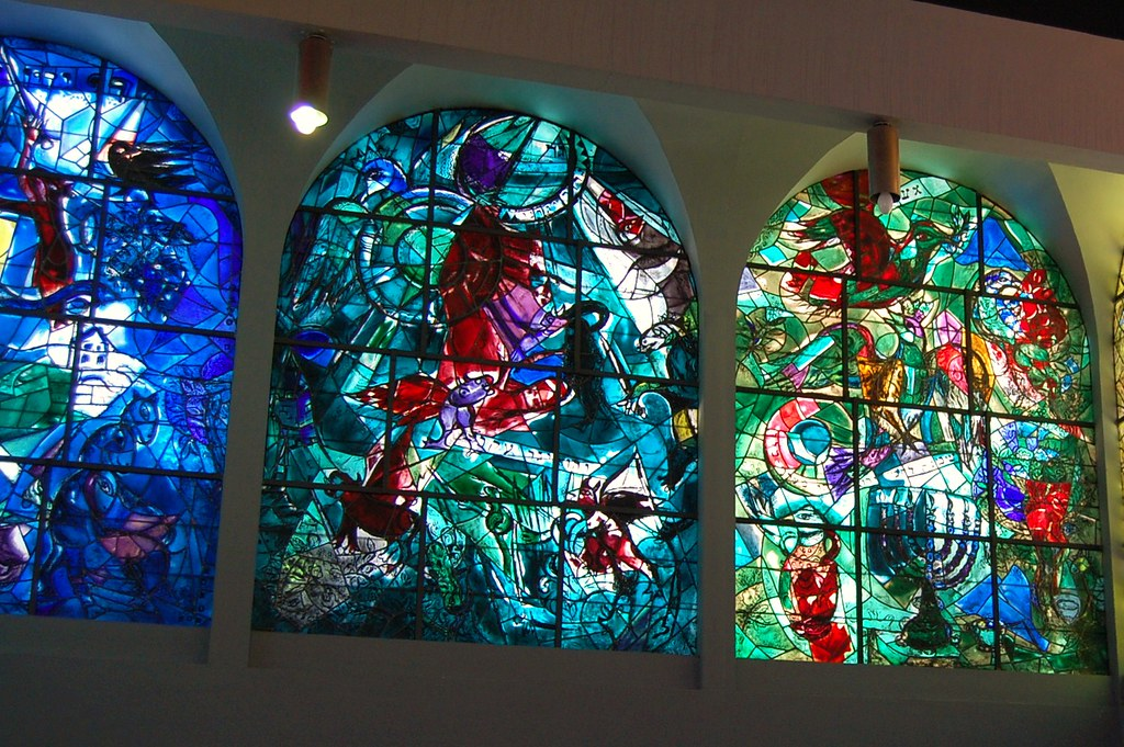 Chagall's windows at Hadassah Hospital - Jerusalem | Flickr Chagall Hadassah Windows