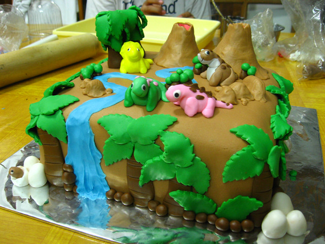 Land before time b 39 day cake all decoration were made for B day decoration
