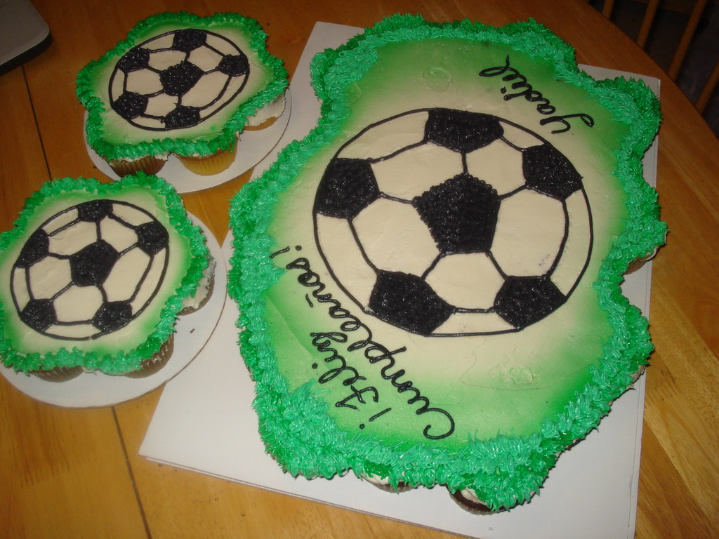 Cupcake Cake Soccer Ball