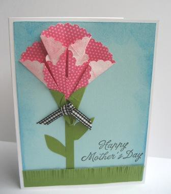 mothers day card origami flower for more information