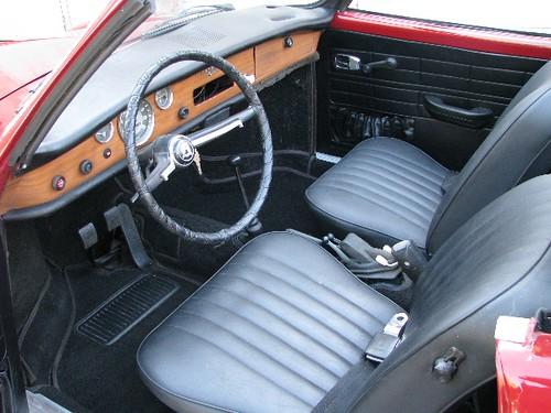 C B on Karmann Ghia Interior