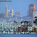Sausalito Houseboats and San Francisco Skyline
