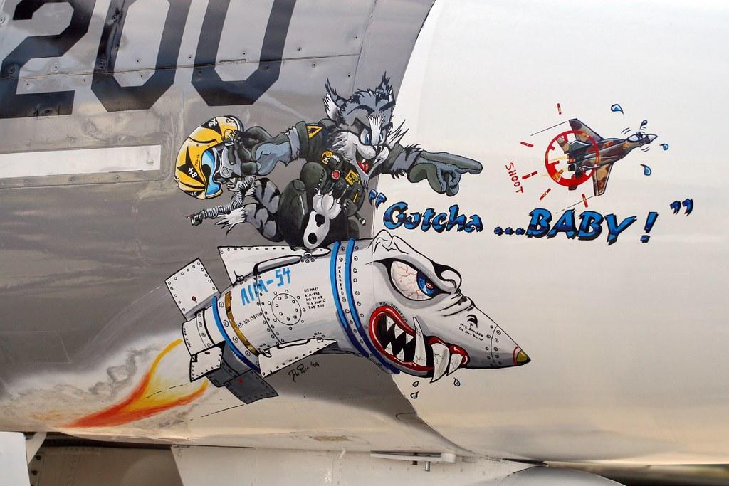 Gotcha >> Gotcha...Baby! | Some cool nose art on the F-14 Tomcat at ...