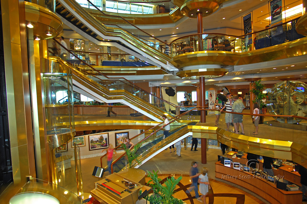 Cruise Ship Lobby Beautiful Central Promenade On The