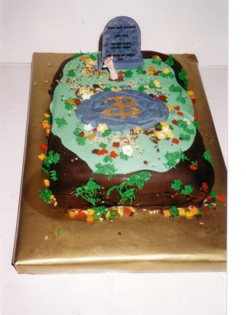Buffy The Vampire Slayer Cake This Was Also A Birthday Cak Flickr - Slayer birthday cake