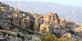Ancient rock houses intermingled with modern houses in Cappadocia, Turkey | by Alaskan Dude